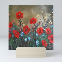 Impasto Poppy Love - Talins Poppy Love Mini Art Print
