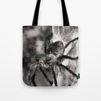 creepy Tote Bags featuring Creepy! by IowaShots