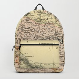 Vintage and Retro Map of Northern India Backpack