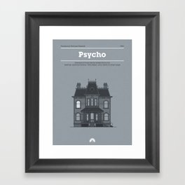 Horror Film Houses 01 Framed Art Print