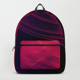 Pink Pulse Abstract Backpack