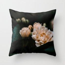 Soft Mini Roses Throw Pillow