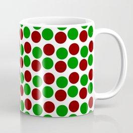 Modern Holiday Red and Green Bold Dots Pattern Coffee Mug