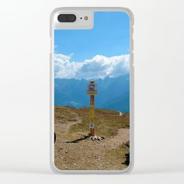 mountain bike frommes trail alps serfaus fiss ladis tyrol austria europe Clear iPhone Case