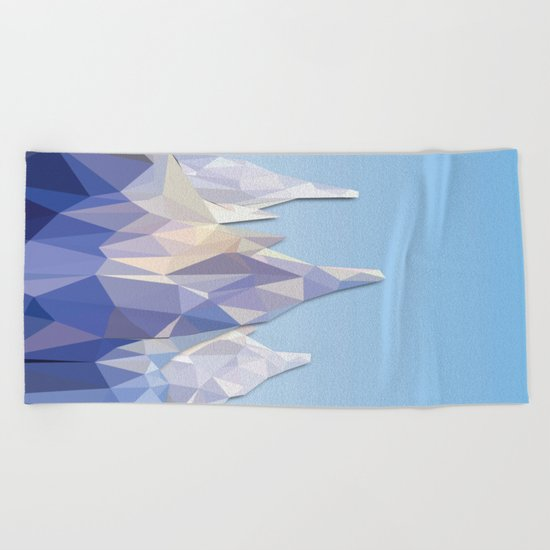 Night Mountains No. 37 Beach Towel
