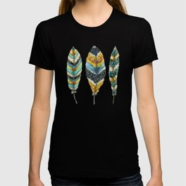 Midnight Feather Trio T-shirt