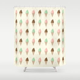 Ice Cream - Whipped Shower Curtain
