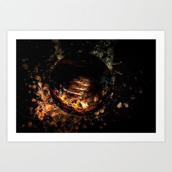 water Fire Art Print