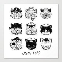 Ocean Cats Canvas Print