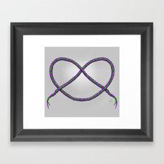 Knot - Green & Purple Framed Art Print