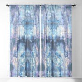 Blue Lagoon Tie-Dye Sheer Curtain