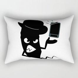 Angry pencil Rectangular Pillow