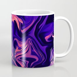 Abstract Marble Colorful Pattern Neon Coral Living Ultra Violet Blue Colors Coffee Mug