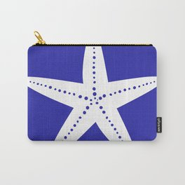 Starfish (White & Navy Blue) Carry-All Pouch