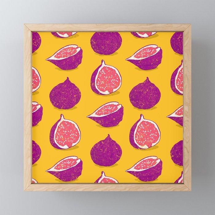 Fig Framed Mini Art Print