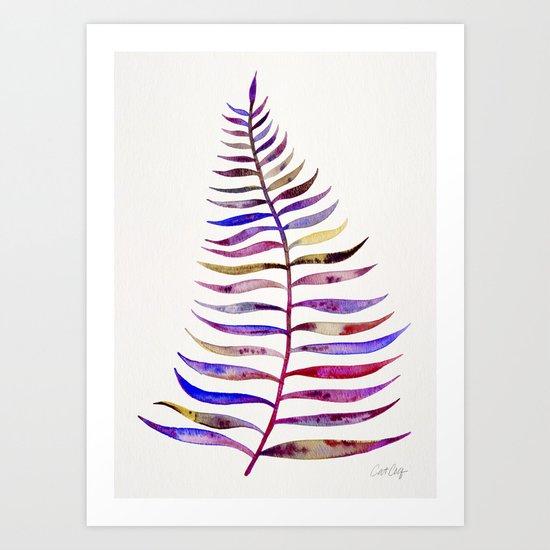 Magenta Palm Leaf Art Print