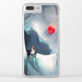 Heart Penguin Clear iPhone Case