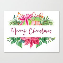 Merry Christmas Design Elements 1 Canvas Print