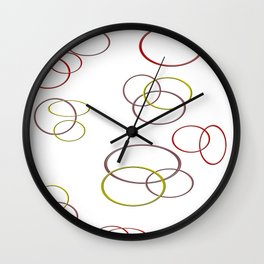 Circles of joy Wall Clock