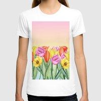 tulips T-shirts featuring Tulips by Julia Badeeva