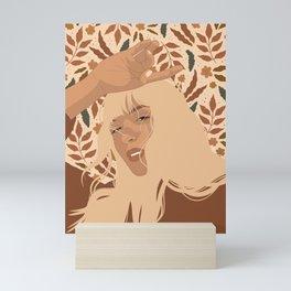 Autumn Pattern Mini Art Print