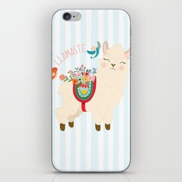 Llamaste - When A Llama Offers You A Respectful Greeting iPhone Skin