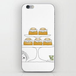 Fika with Semlor iPhone Skin