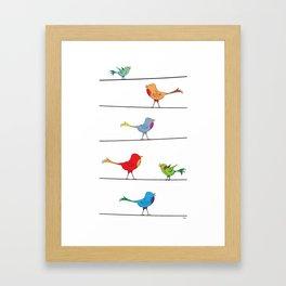 [ birds on wire ] Framed Art Print