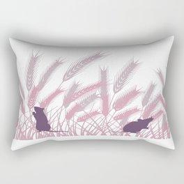 Mice In The Grain No. 3 Rectangular Pillow