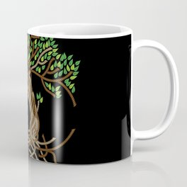 Rope Tree of Life. Rope Dojo 2017 black background Coffee Mug