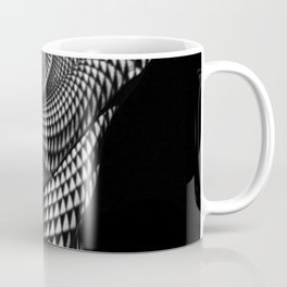 0622-JAL Heart Shape Pattern on Breasts and Nude Body Abstracted by Optical Patten Coffee Mug