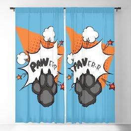 dog paw dog power Blackout Curtain
