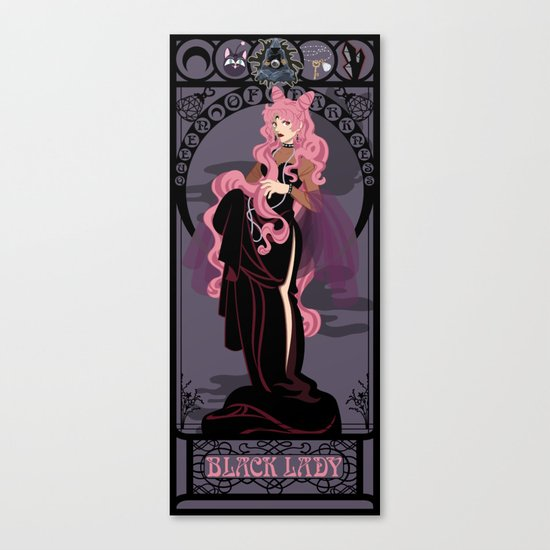 Black Lady Nouveau - Sailor Moon Canvas Print