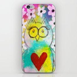 Flower Owl iPhone Skin