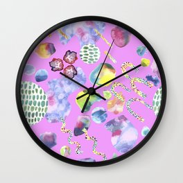 Bubblegum Garden Wall Clock