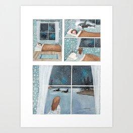 Orca dream Art Print