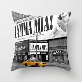 NYC - Yellow Cabs - Musical - High Throw Pillow