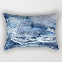 "Travel & nature photography ""details of a rock in blue colors. Abstract fine art photo print.  Rectangular Pillow"