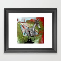 Diving Bored Framed Art Print