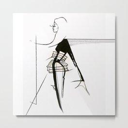 Silhouette (Moving-forward) Metal Print