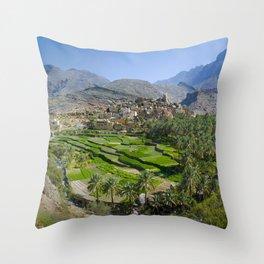 Bilad Sayt Village Oman Throw Pillow