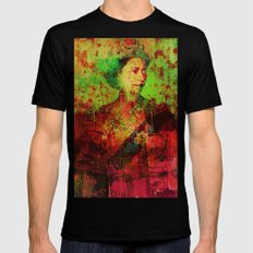 Queen Lisa Black LARGE Mens Fitted Tee