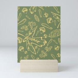Acorns and Leaves Mini Art Print