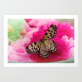 #Butterfly #Life with #pink #colors Art Print