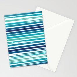 Painterly Stripes Stationery Cards