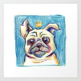 Hey Pug Art Print