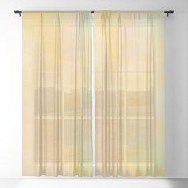 Pastel Pastoral Sheer Curtain