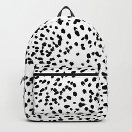 Nadia - Black and White, Animal Print, Dalmatian Spot, Spots, Dots, BW Backpack