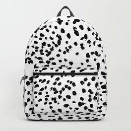 Nadia - Black and White, Animal Print, Dalmatian Spot, Spots, Dots, BW Backpack