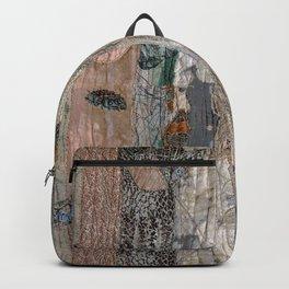 Falling leaves in beige Backpack